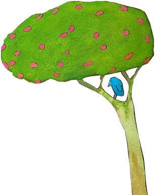 Baum-grün-pink